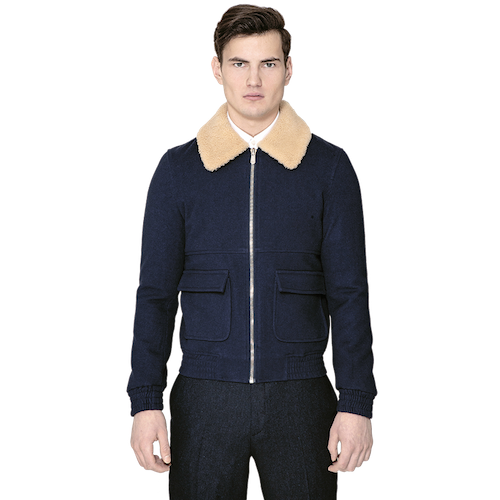 logan mackay navy coat