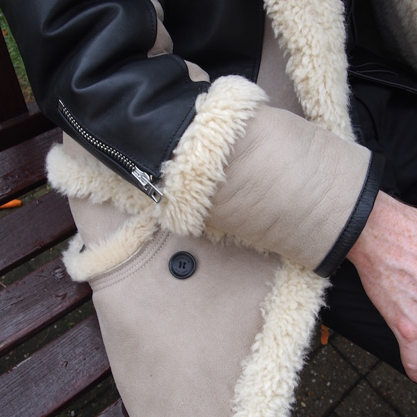sheepskin shearling menswear coach