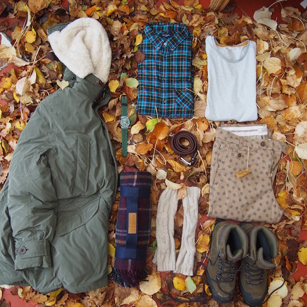 ootd flatlay lumber geek the chic geek