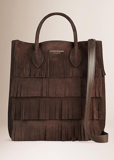 Burberry fringed carryall bag