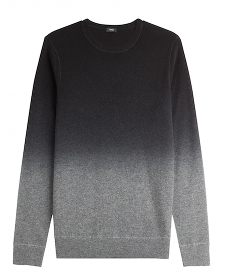 vince menswear chic geek jumper grey