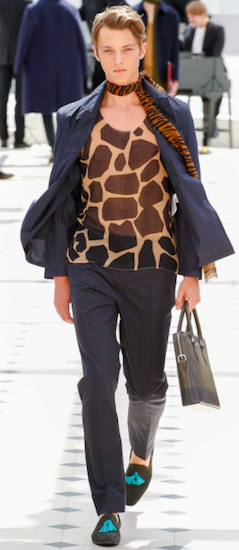 Burberry Prorsum animal prints menswear
