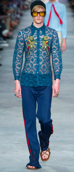 menswear trends birds gucci