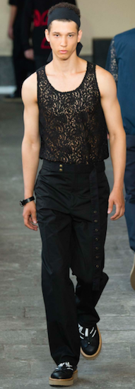 lace menswear trend No.21