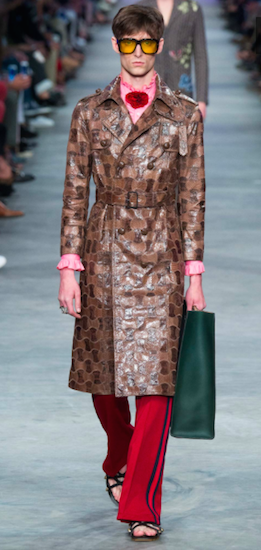 gucci leather coat menswear s16