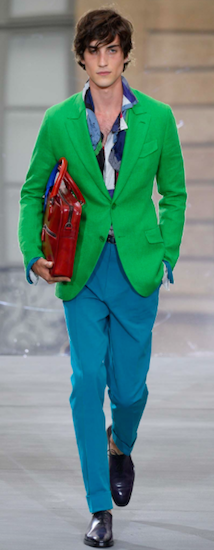 berluti green men's jacket paris trends