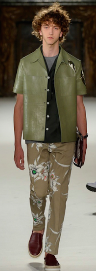 menswear leather shirt valentino