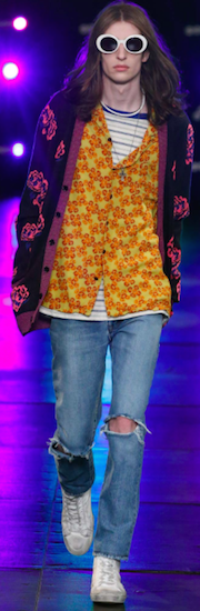 menswear saint laurent hippy trend