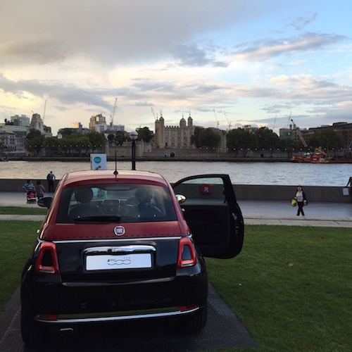 Fiat 500 new version 2015 tower of london