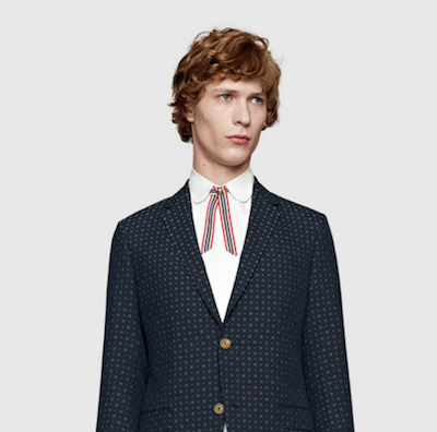 gucci menswear pre fall 2016 neck ribbon