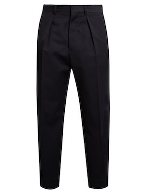 trousers marni navy pleated
