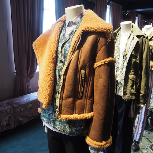 burberry shearling makers house