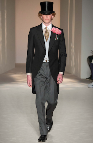 dunhill menswear floral top hat