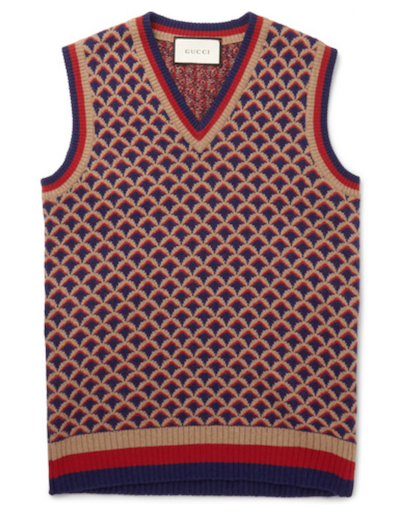 gucci patterned tank top mens