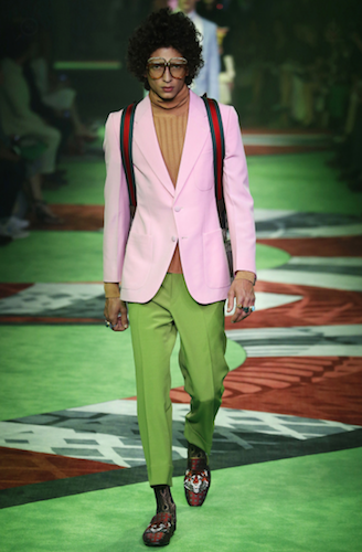 gucci menswear milan trends spring summer 2017 the chic geek pink green