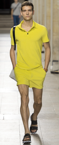 menswear trends yellow hermes paris the chic geek