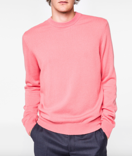 Pink sweater menswear Paul Smith