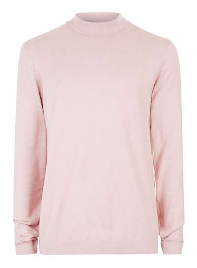 men's pink sweater topman