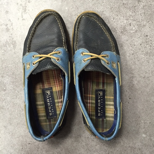 Vibram sole Sperry topsiders