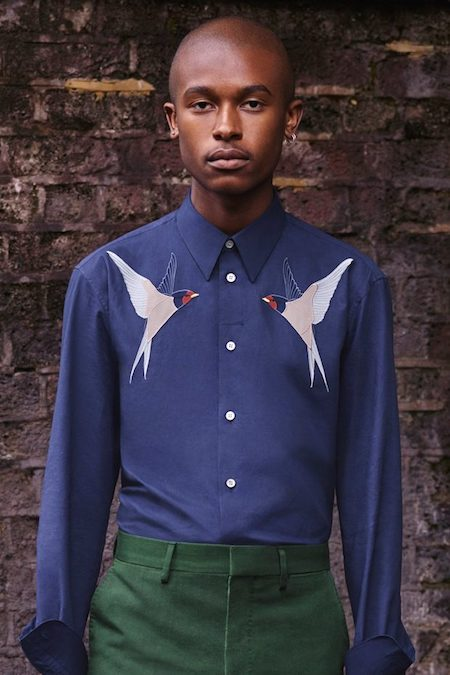 Stella McCartney menswear swallows