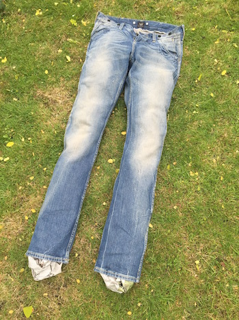 how to create bleached jeans menswear