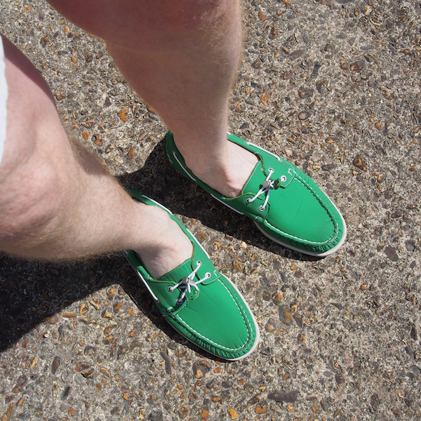 green sebago docksides ariaprene ootd boat shoes