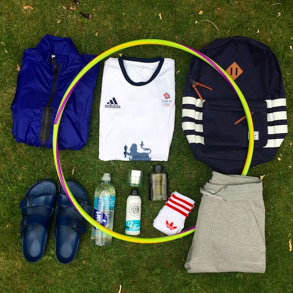 olympic rings flatlay blogger men's the chic geek