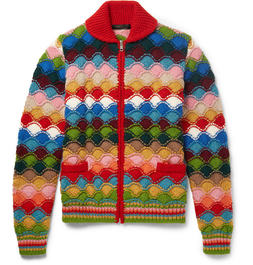 rainbow jumper cardigan prada