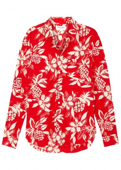 floral men's shirt Saint Laurent Harvey Nichols