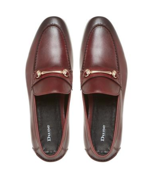 Dune Gucci Loafers Pinnochio Shoes Mens Red