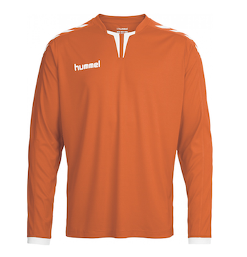 Hummel football strip kit top orange