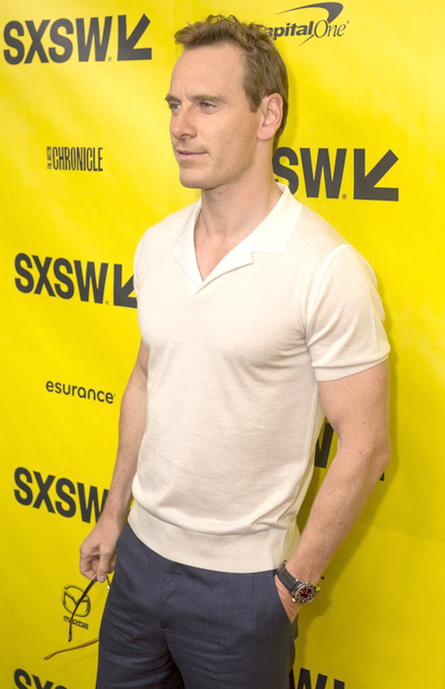 Must Have men's knitted polo shirts Michael Fassbender