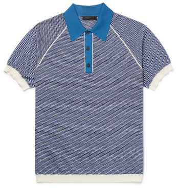 knitted men's polo shirt Prada Mr Porter