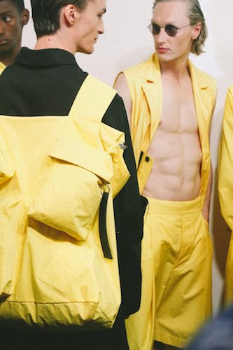 Large Yellow Bag Menswear LFWM