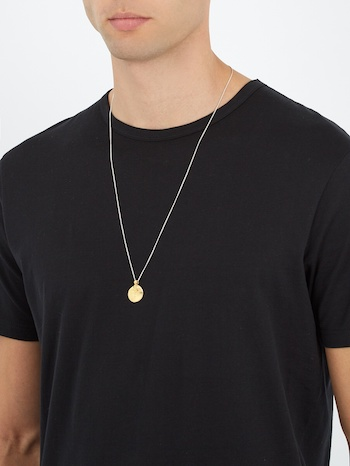 men's medallion necklaces silk shirts black dakini matchesfashion