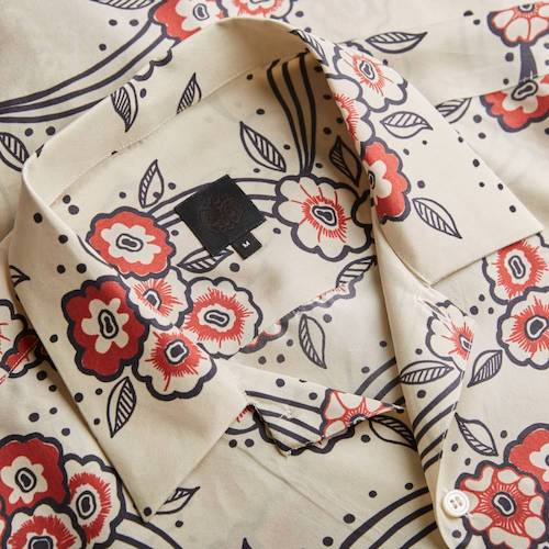 Ossie Clark Menswear Silk Shirt Pretty Green
