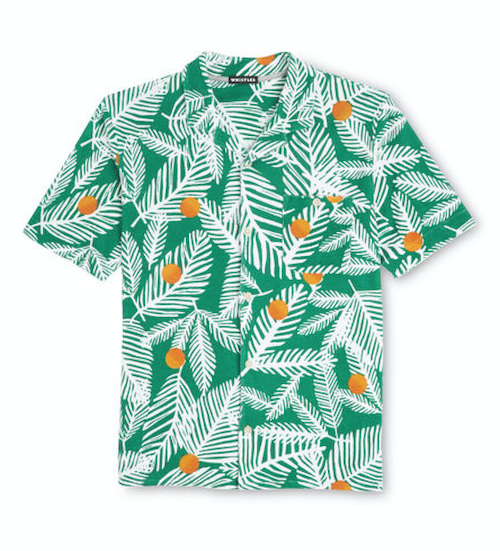 Towelling men's palm print shirt holiday Whistles