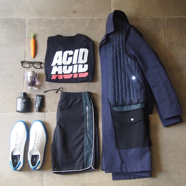 OOTD menswear flatlay Tim Coppens Harvey Nichols