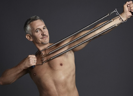 Gary Lineker gets naked with TM Lewin white shirts