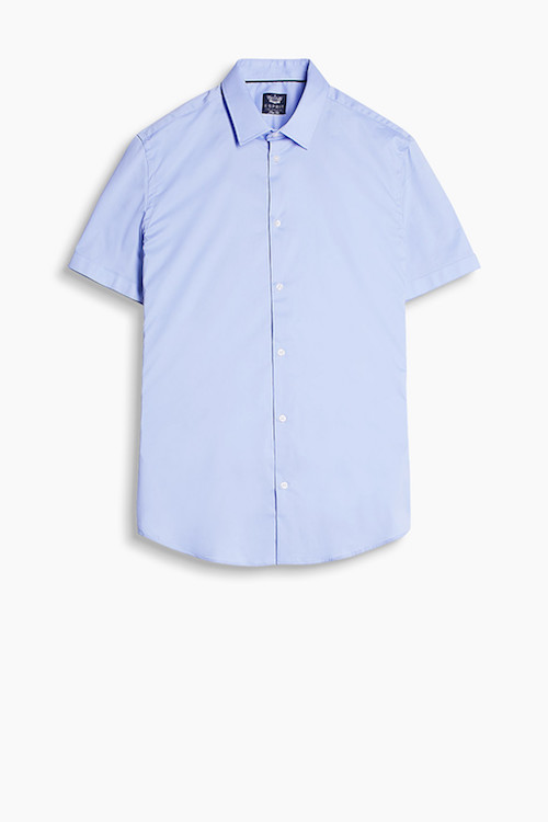 Blue men's short sleeve shirt Esprit