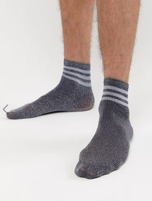 ASOS men's lurex socks Christmas