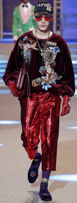 AW18 menswear trends Milan colouredlenses Dolce & Gabbana