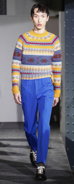 AW18 menswear trends Paris blue Acne