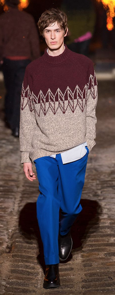 AW18 menswear trends Paris blue Hermes