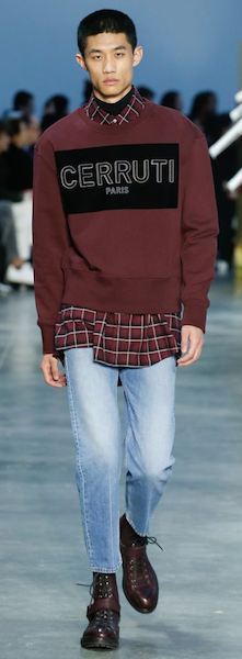 AW18 menswear trends Paris Cerruti denim
