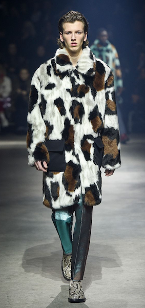 AW18 menswear trends Paris Kenzo Fun Fur Coat
