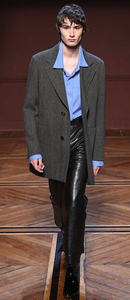 AW18 menswear trends Paris Wooyoungmi leather trousers business