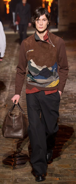 AW18 menswear trends Paris Hermes scene