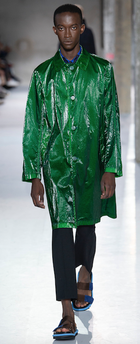 SS19 Trends Short Shorts Menswear Dries van Noten Green Coat