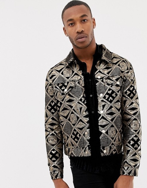 Mary Poppins Menswear Pearly King Jacket ASOS